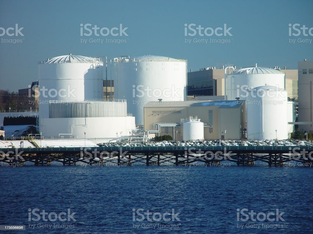 Tank Farm #1 royalty-free stock photo