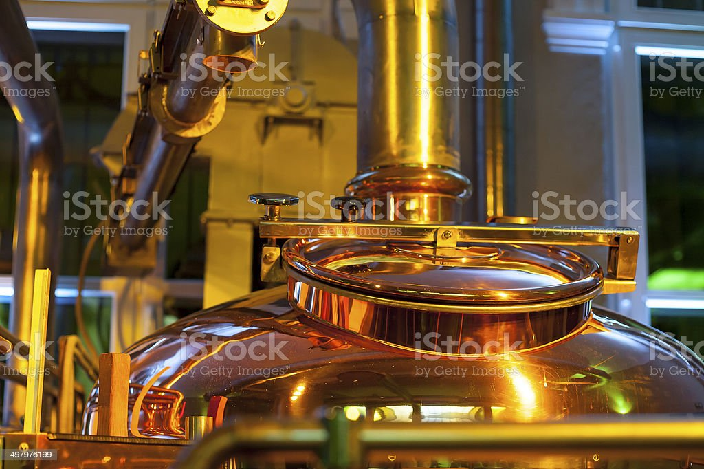 Tank for brewing. stock photo