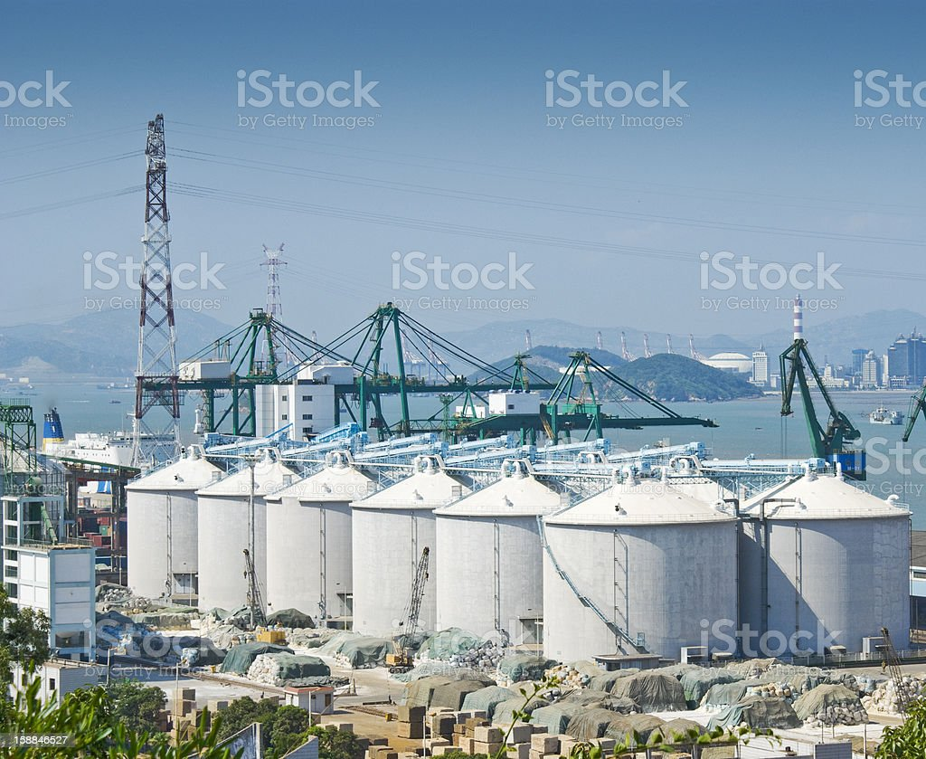 tank in seaport royalty-free stock photo