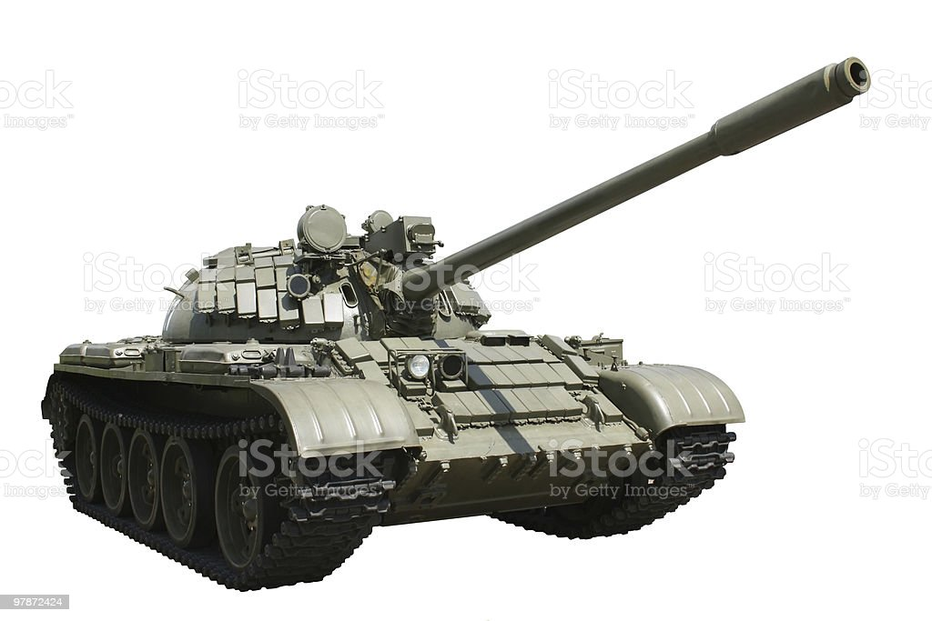 Tank isolated stock photo