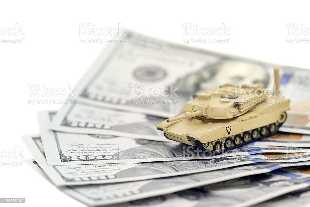 Tank Money stock photo
