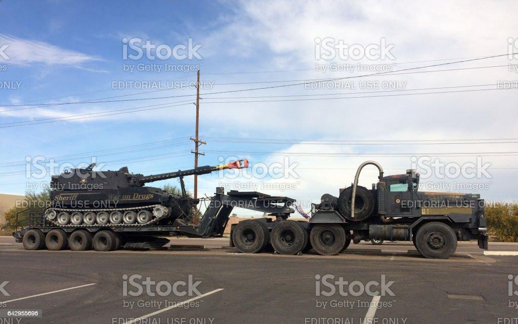 Tank of Maricopa County Sheriff stock photo