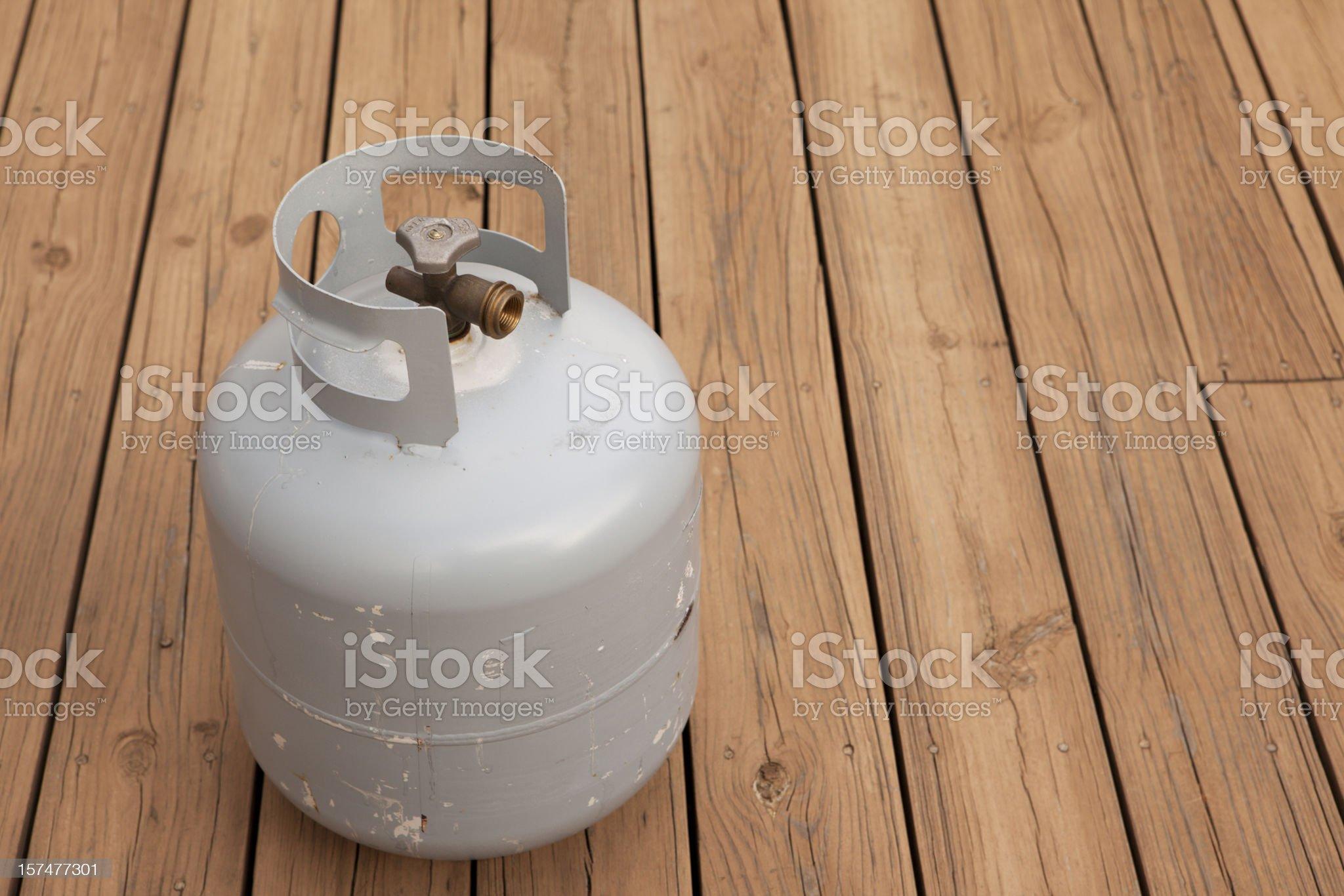 LP Tank on Deck royalty-free stock photo