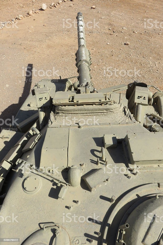 Tank - point of view of a tank commander stock photo