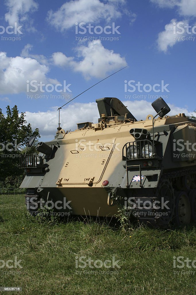 tank right view stock photo