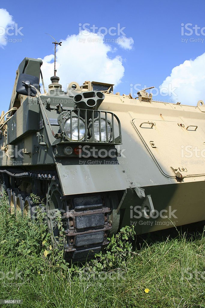 tank side view stock photo