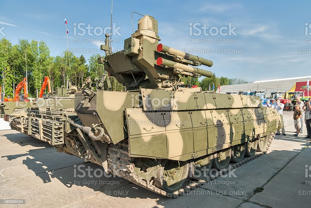 Tank Support Fighting Vehicle Terminator. Russia stock photo