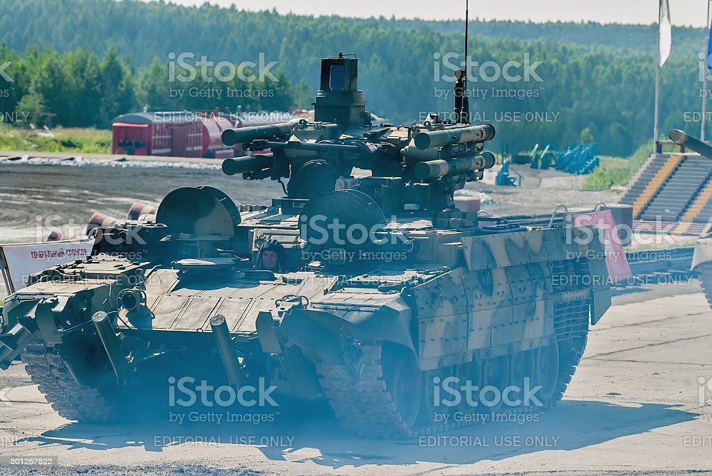Tank Support Fighting Vehicle 'Terminator'. Russia stock photo