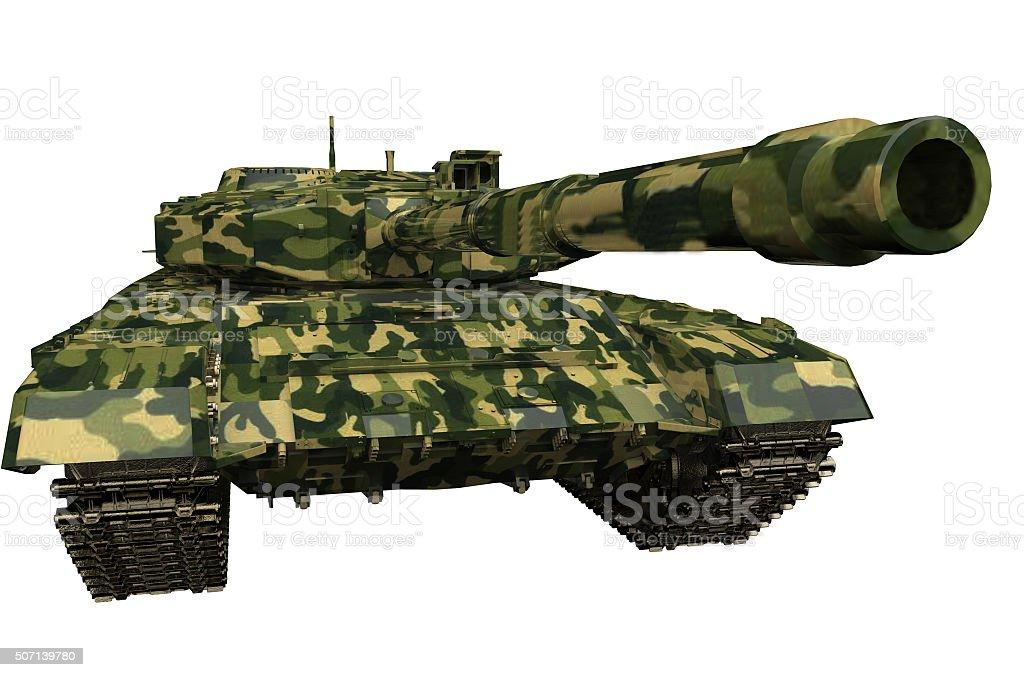 tank T90  isolated stock photo