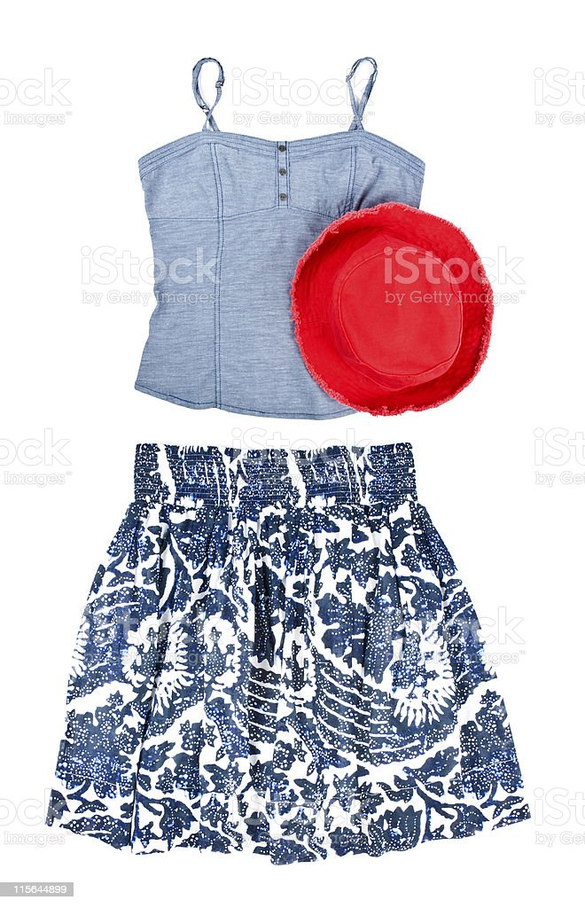Tank Top, Shirt and Red Hat stock photo