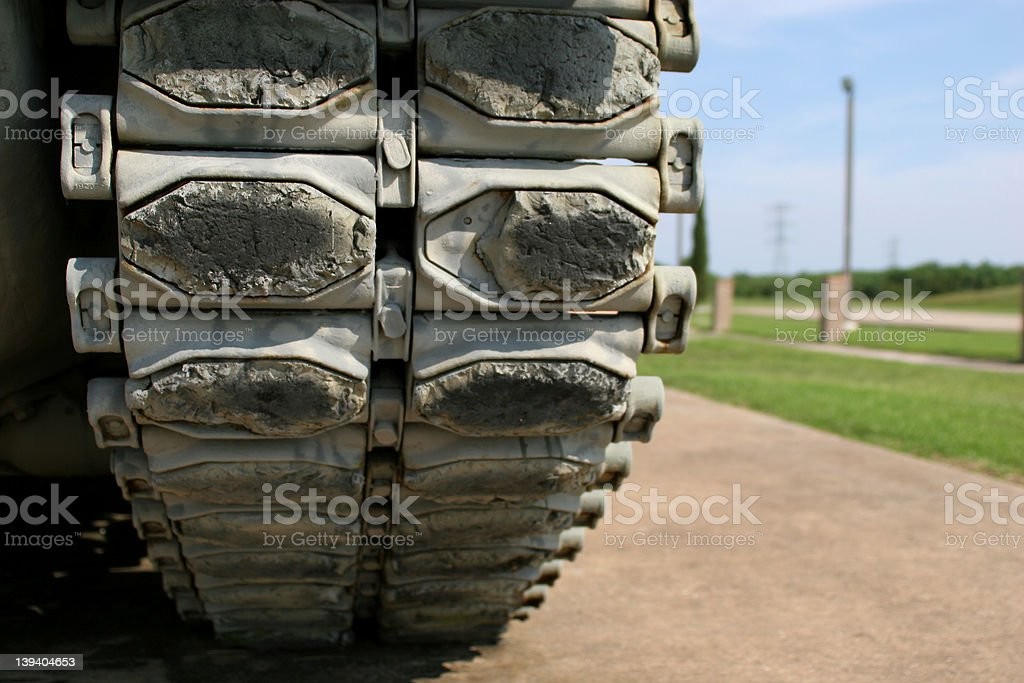 Tank Tracks royalty-free stock photo