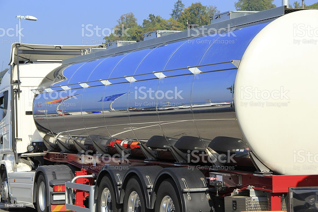 Tank truck for foodstuff royalty-free stock photo