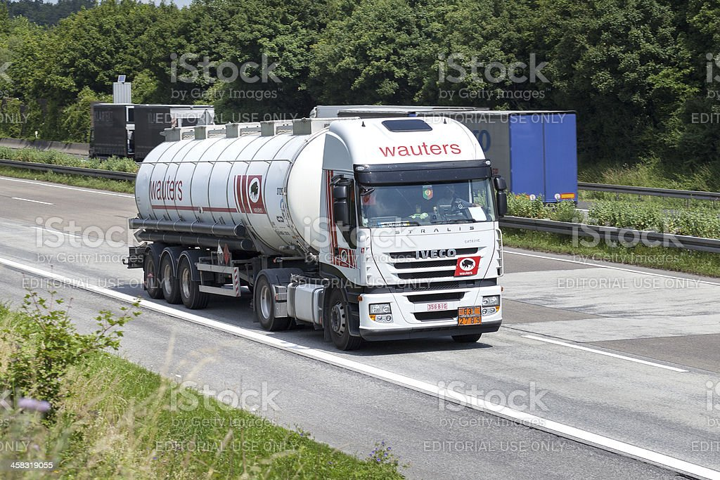 IVECO tank truck royalty-free stock photo