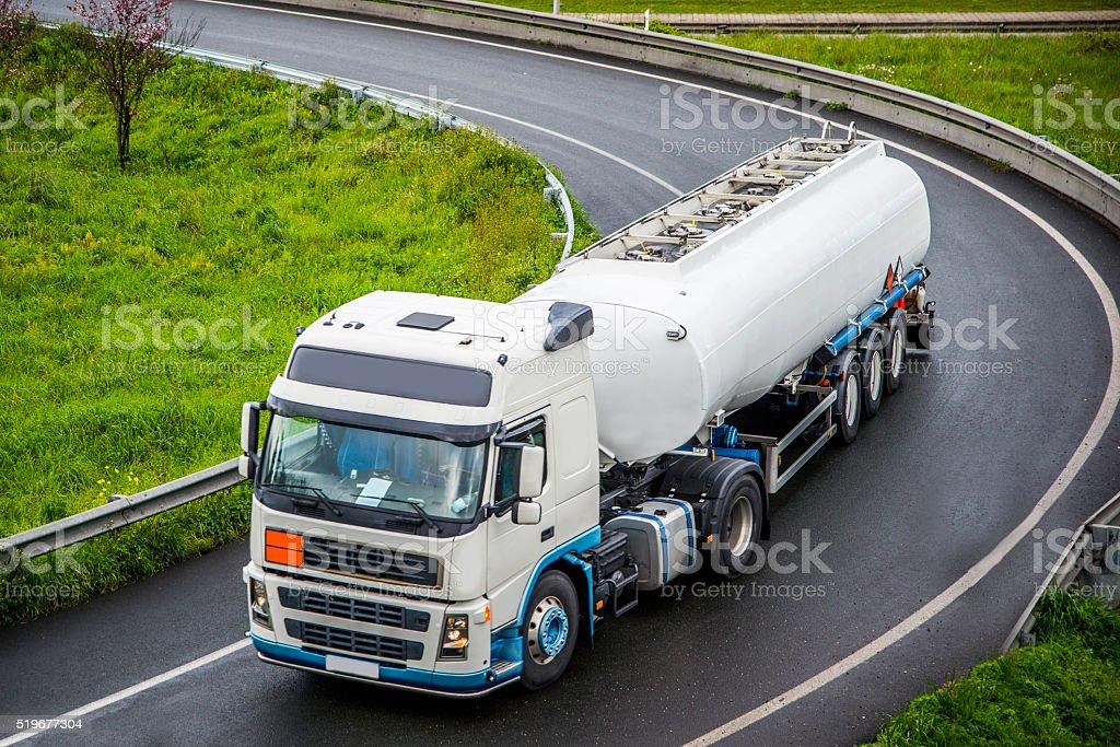Tank truck stock photo
