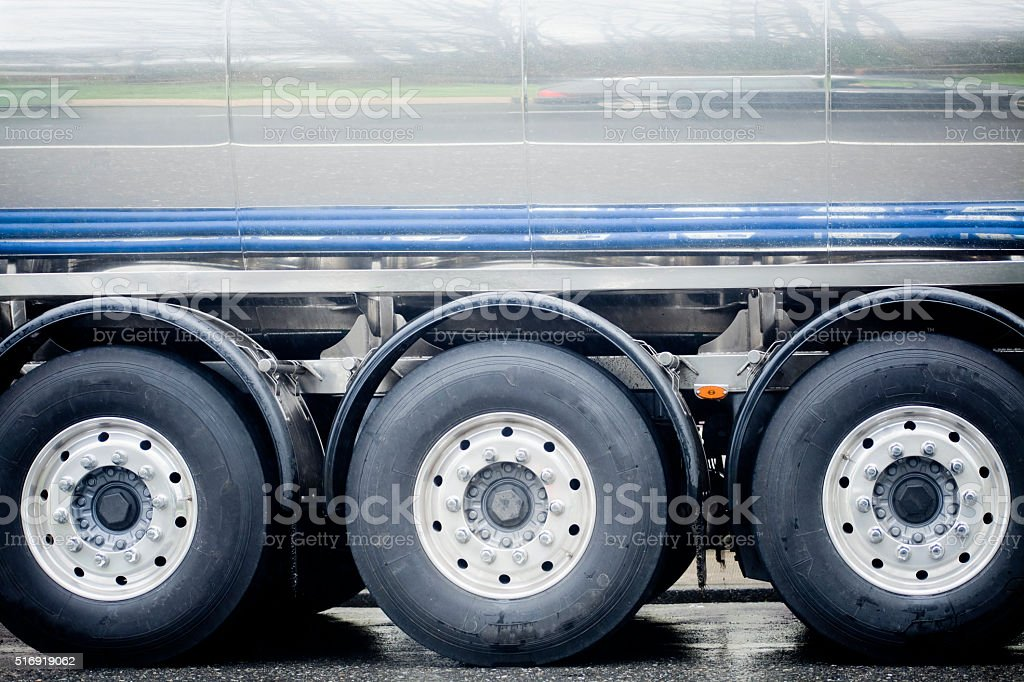 Tank truck three wheels. stock photo