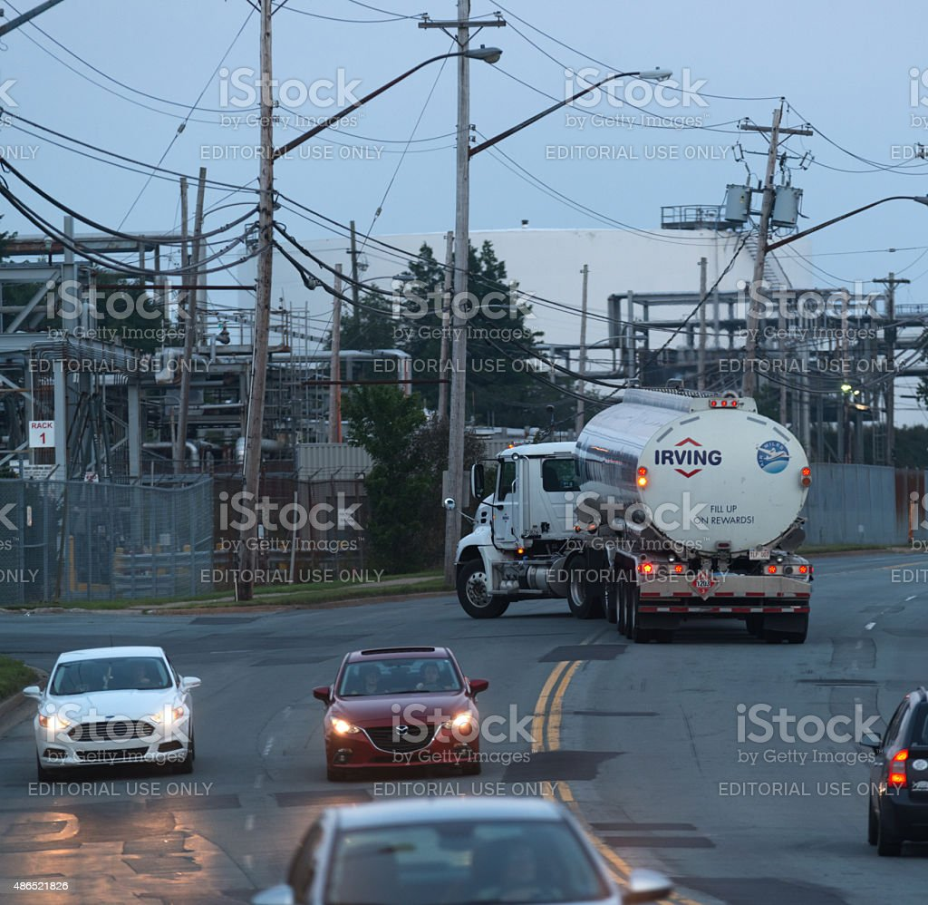 Tanker Arrives at Imperial Oil Terminal stock photo
