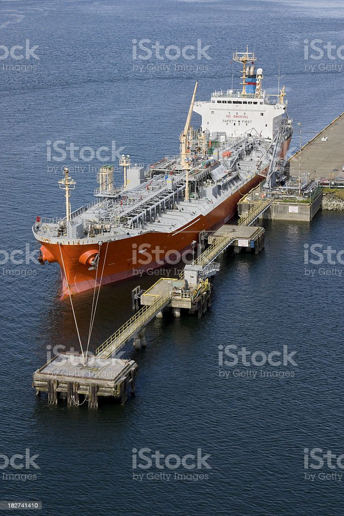 Tanker at Port royalty-free stock photo
