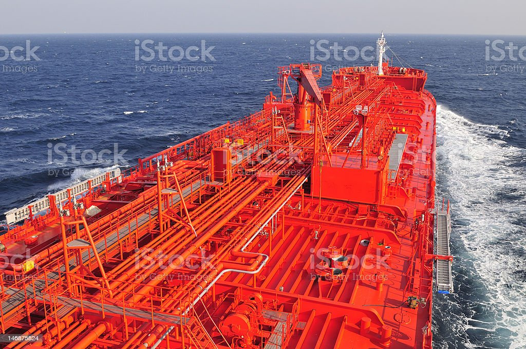 Tanker crude oil carrier ship royalty-free stock photo