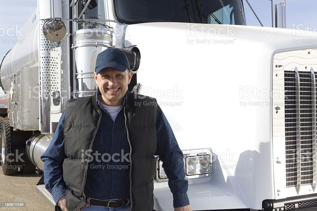 Tanker Driver stock photo