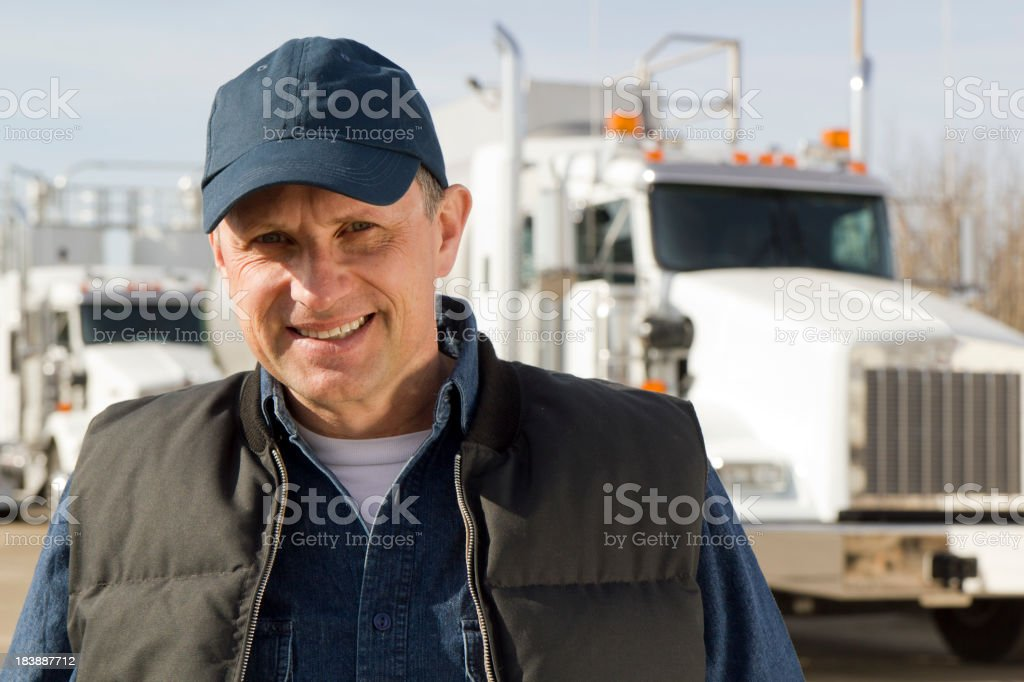 Tanker Driver royalty-free stock photo