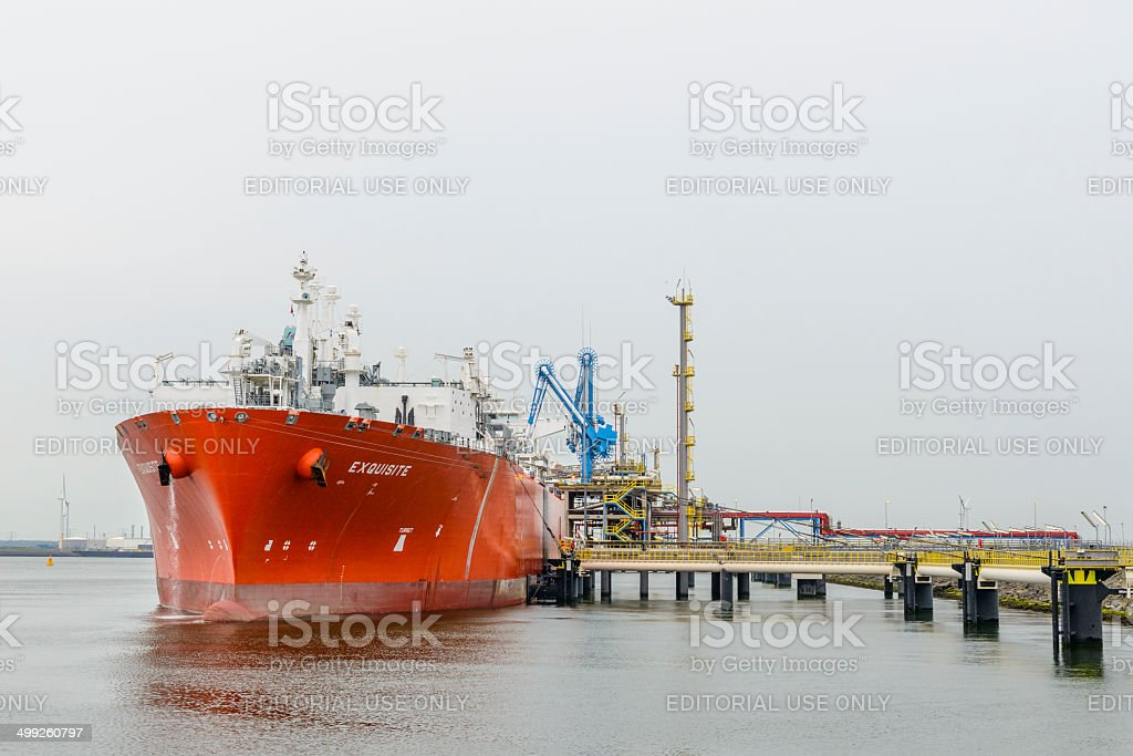 LNG tanker Exquisite stock photo