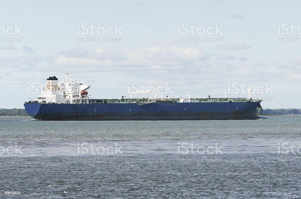 Tanker heading for the ocean royalty-free stock photo