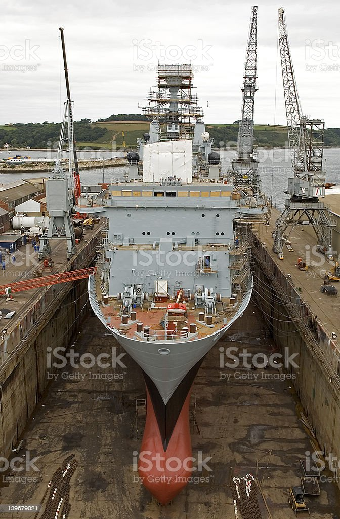 Tanker in dry dock royalty-free stock photo