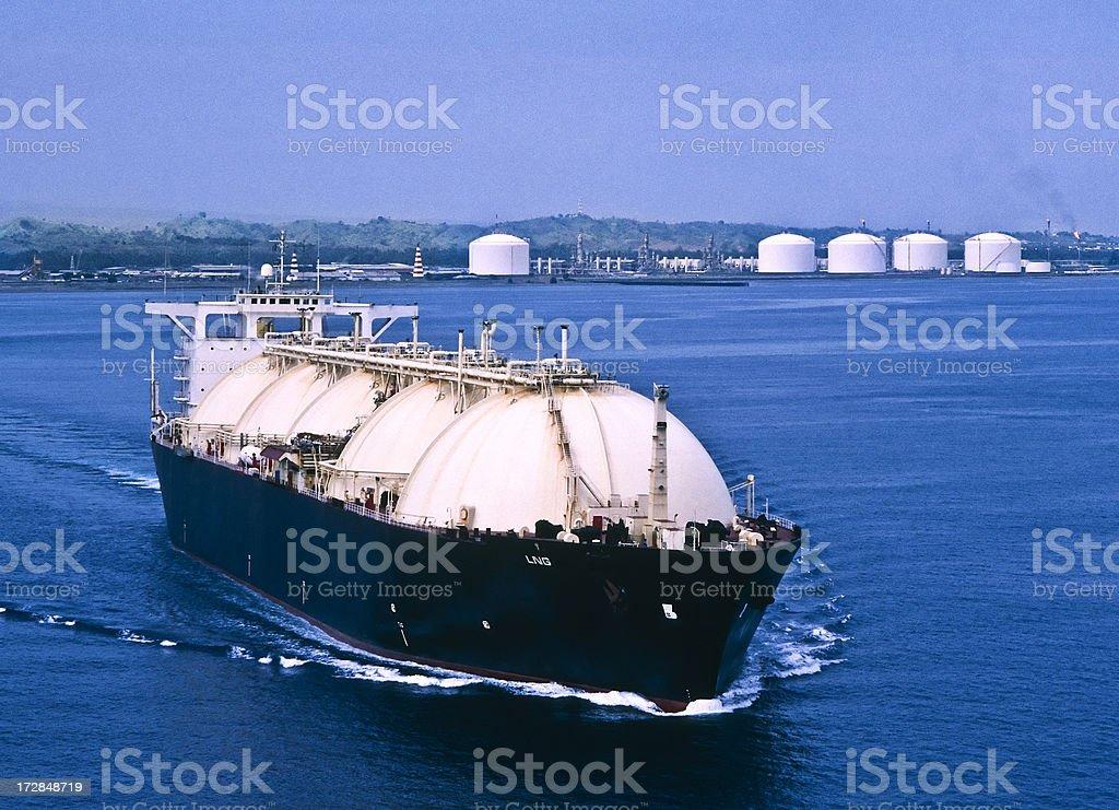 LNG Tanker & Oil Industry stock photo