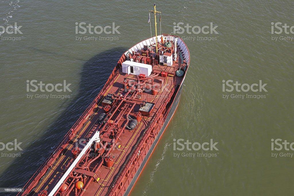 tanker on Kiel Canal royalty-free stock photo