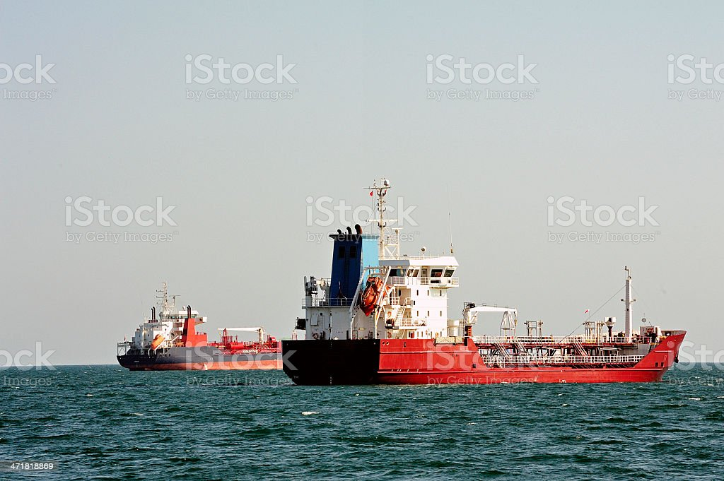 tanker on standby royalty-free stock photo
