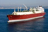 LNG tanker sailing in an ocean