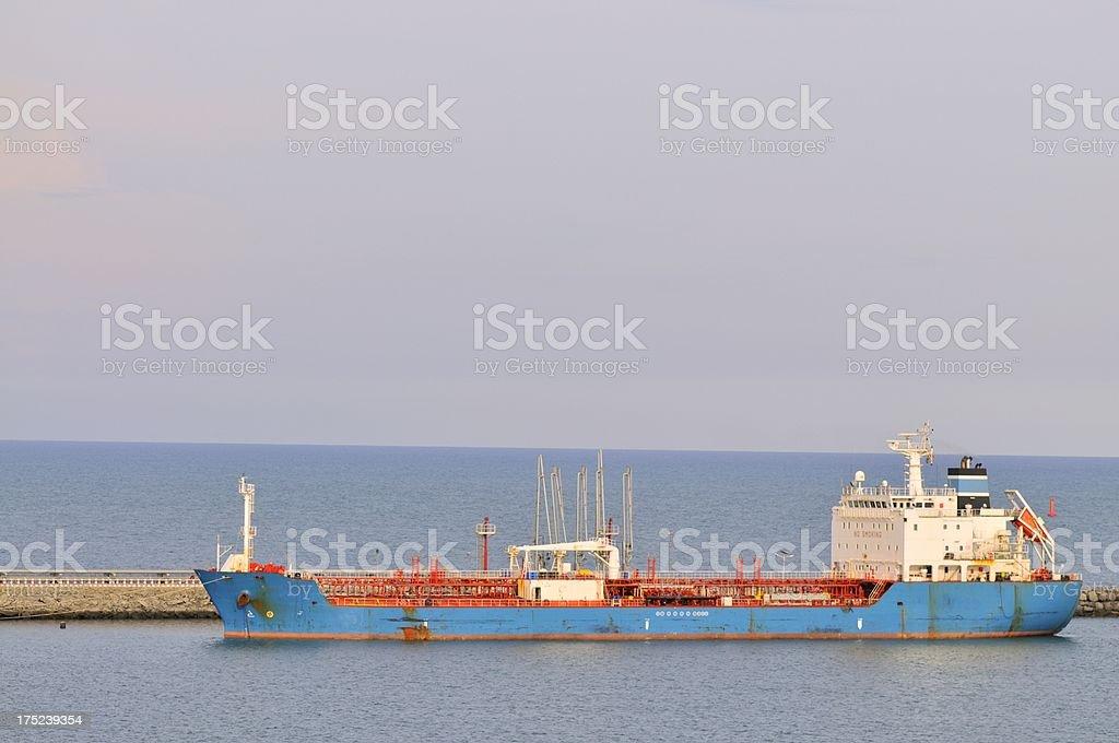 Tanker Ship In Togo royalty-free stock photo