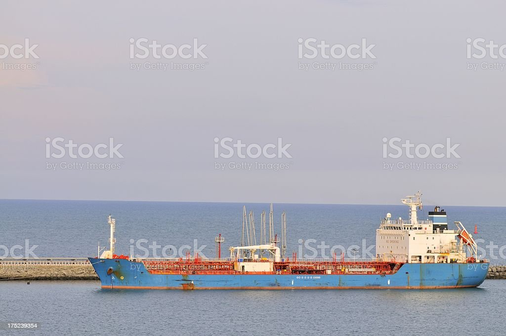 Tanker Ship In Togo stock photo