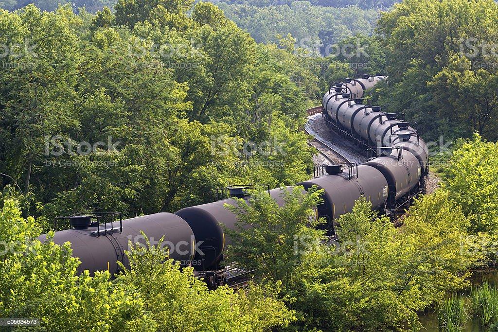 Tanker Train stock photo