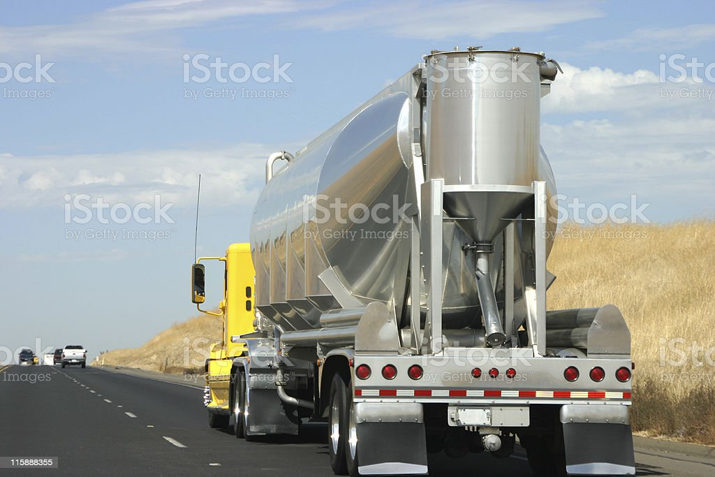 Tanker truck on the road royalty-free stock photo