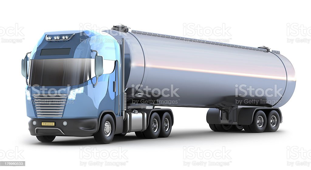 Tanker truck on white royalty-free stock photo
