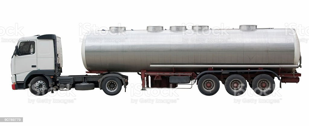 tanker truck(clipping path included) royalty-free stock photo