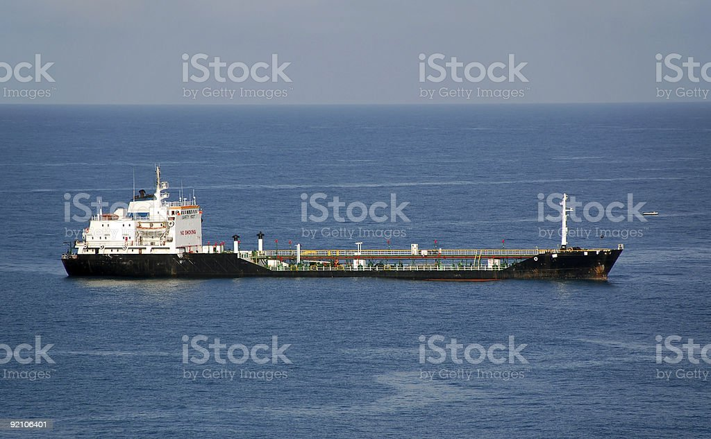 Tanker waiting for refueling operation stock photo