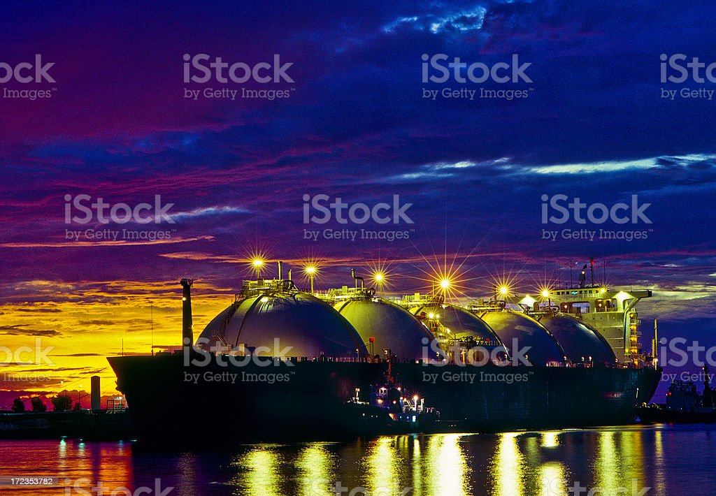 LNG Tanker,Oil Industry royalty-free stock photo