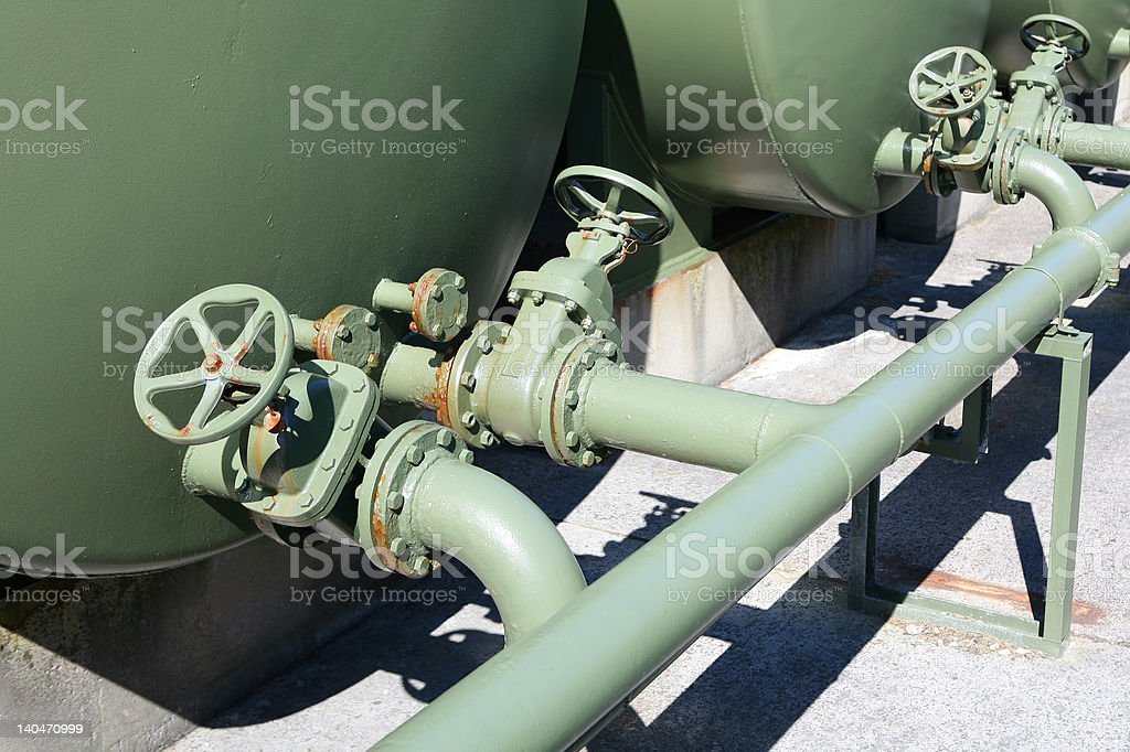 Tanks and Valves royalty-free stock photo