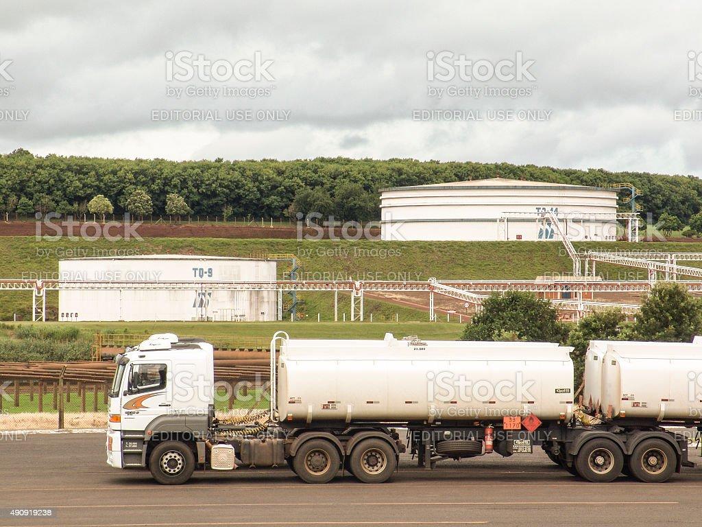 tanks for ethanol stock photo