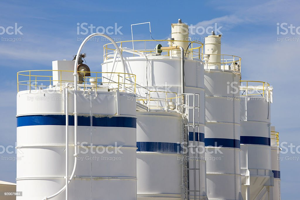 tanks in a kaolin quarry royalty-free stock photo