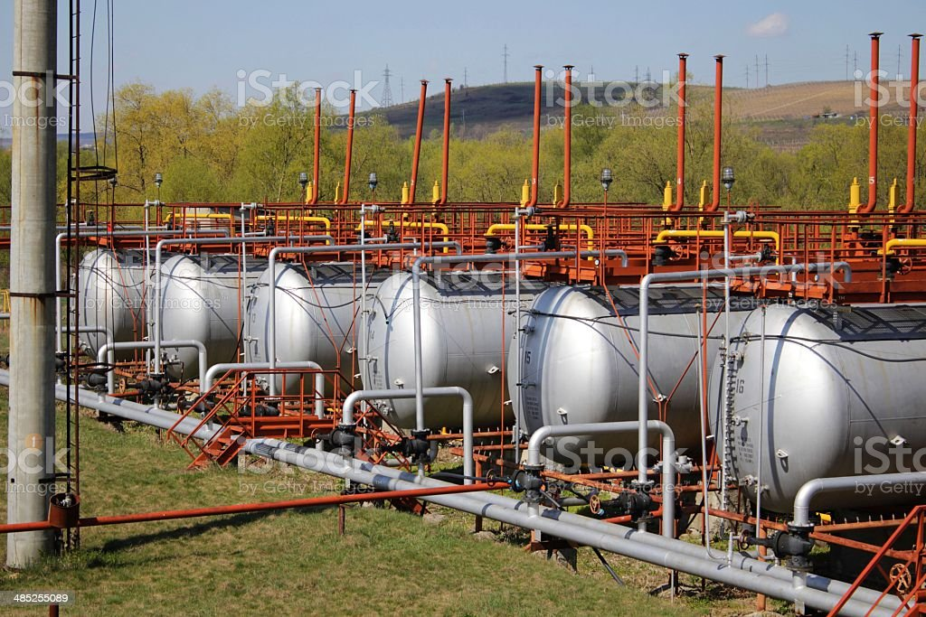 LNG tanks stock photo