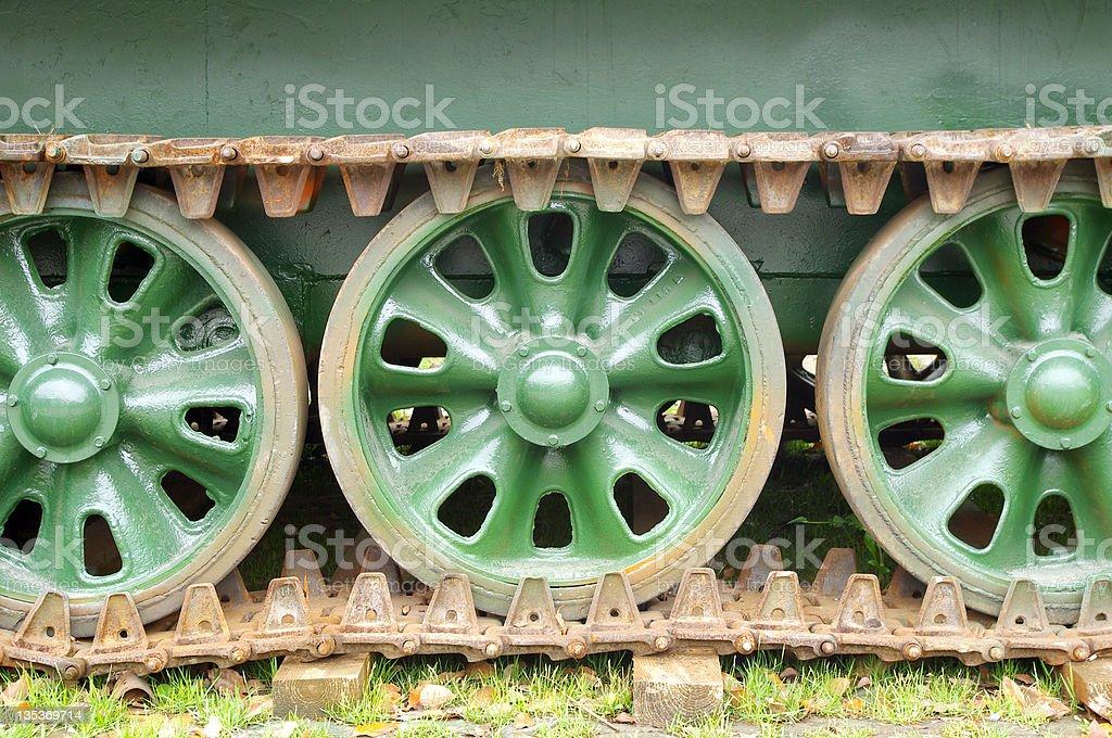 Tanks wheels royalty-free stock photo