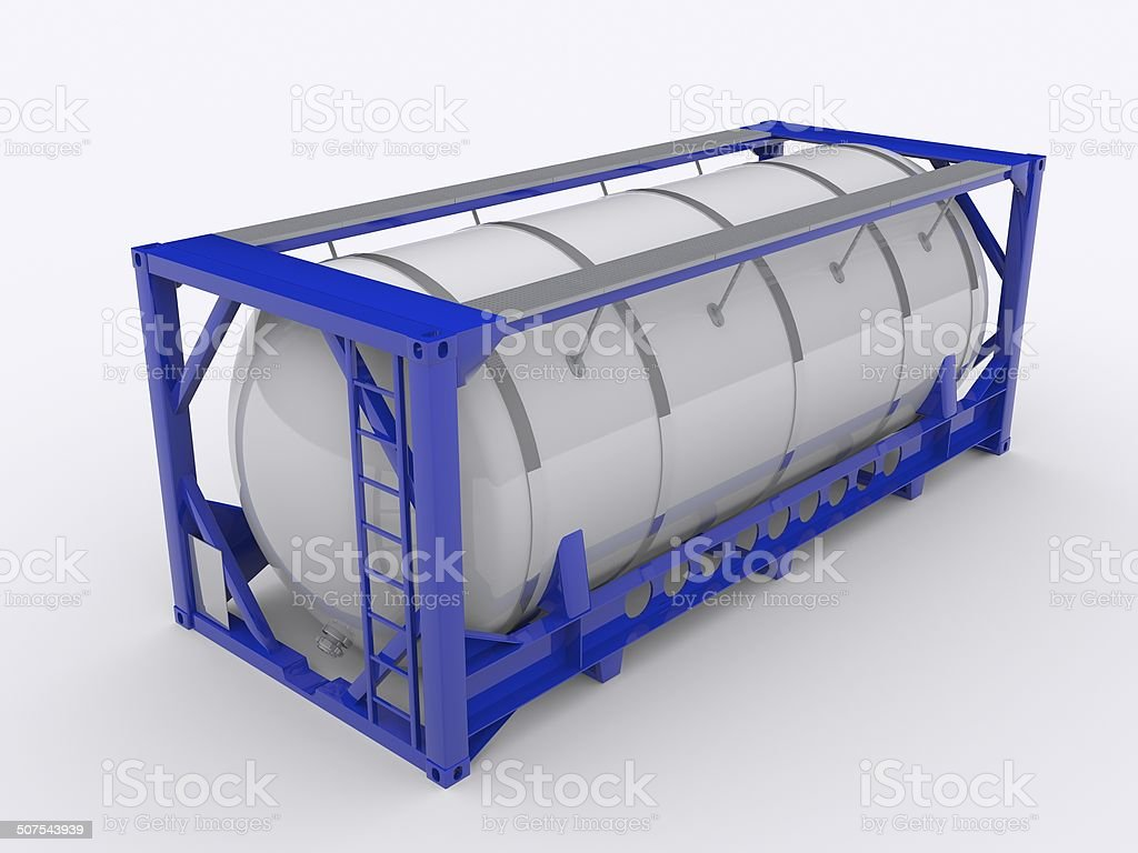 Tanktainer stock photo