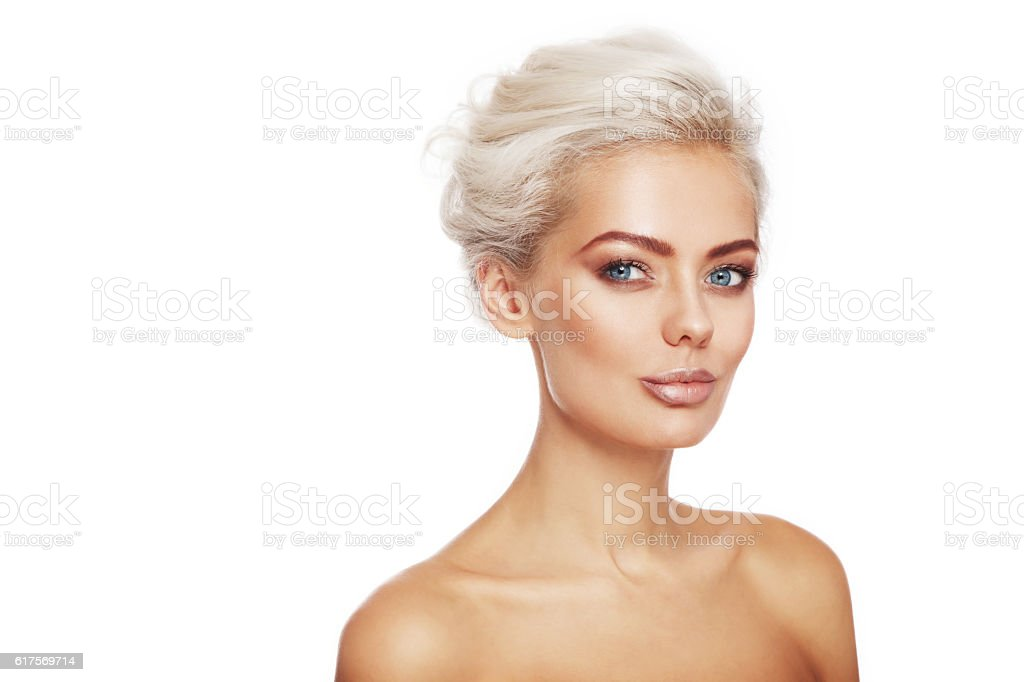 Tanned beauty stock photo