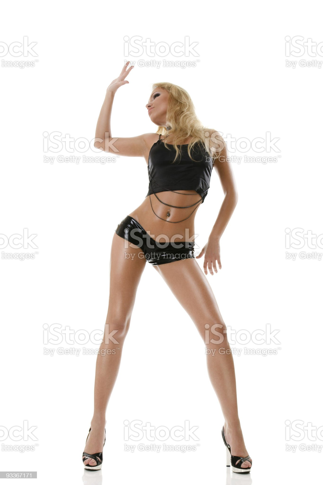 Tanned fashion model royalty-free stock photo