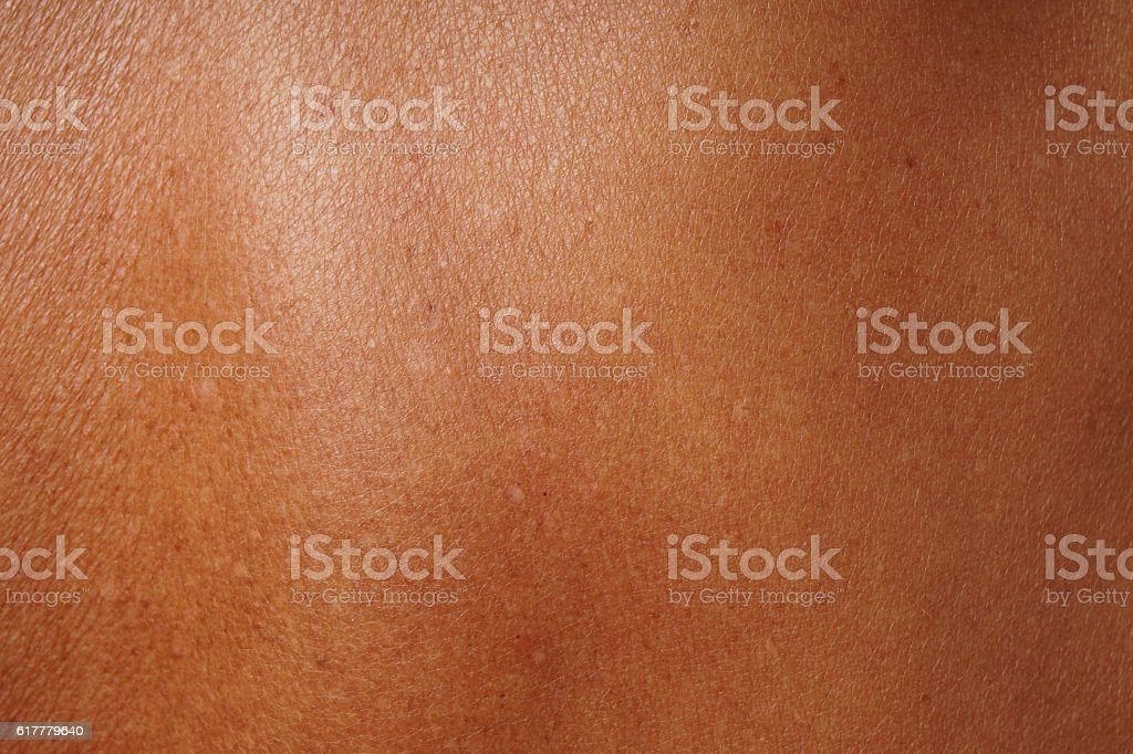 tanned mature skin stock photo