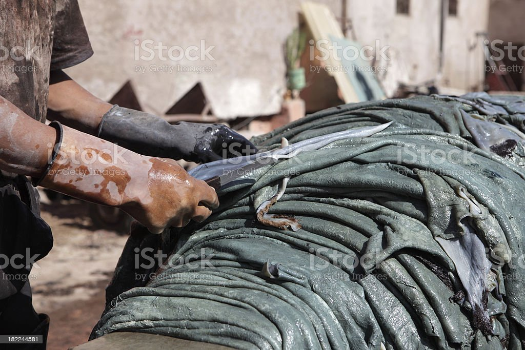 Tannery royalty-free stock photo