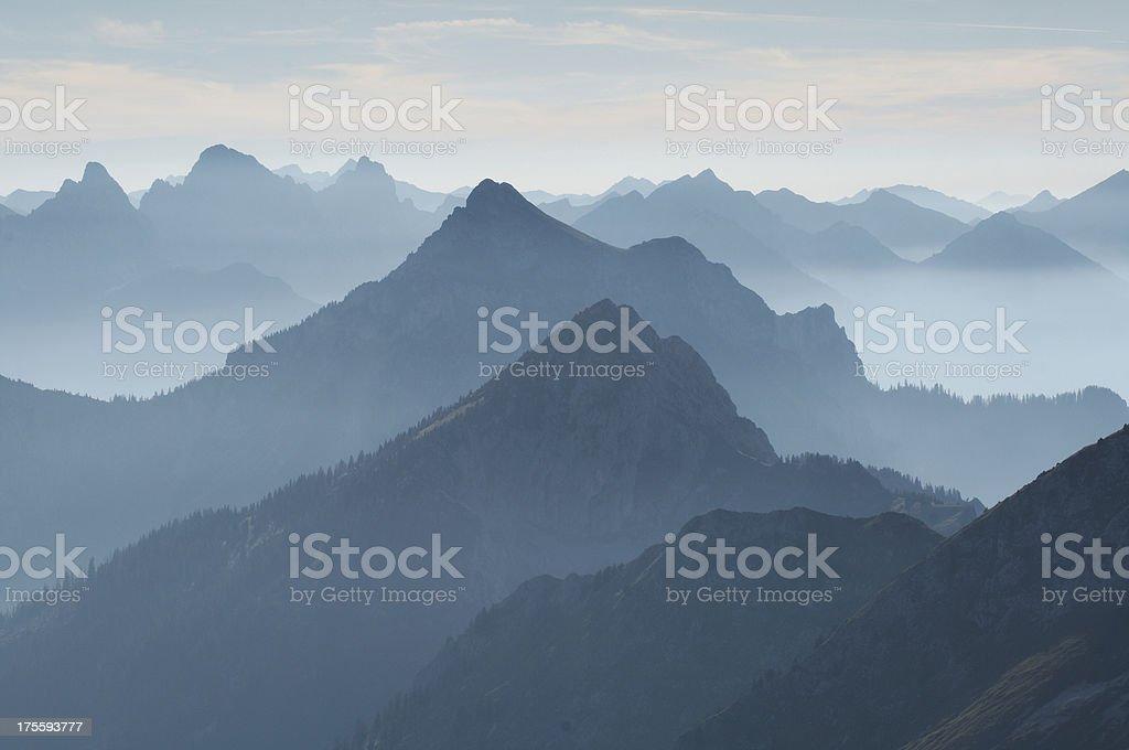 tannheimer mountains stock photo